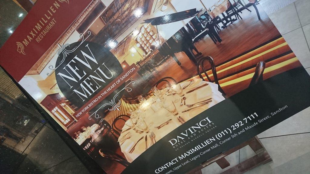 #newwintermenu, Maximillien Restaurant, Da Vinci Hotel, Chef Sylvester Nair, BoozyFoodie, #BoozyFoodieLikes, Johannesburg restaurants, Sandton restaurants