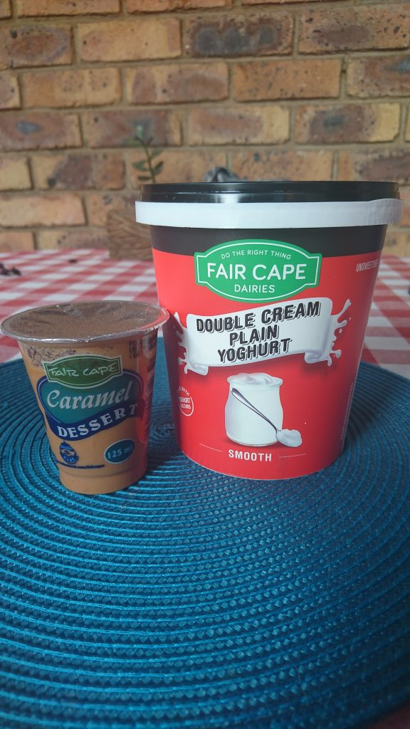 Foodie, FoodieBlogger, Recipes, Blogger, Fair Cape Dairies, Caramel Dessert, Double Cream Plain Yogurt
