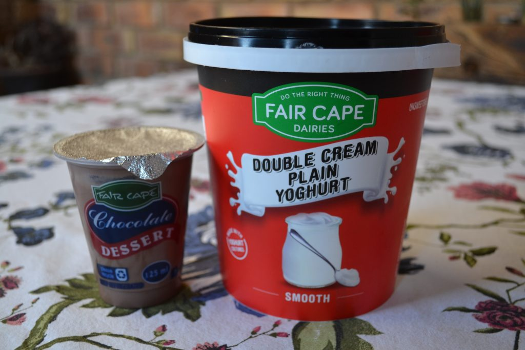 Fair Cape Dairies Chocolate Dessert and Double Cream Plain Yogurt , Boozy Foodie, BoozyFoodie, Fair Cape Dairies, Dessert recipe
