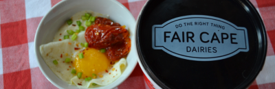 Savoury Garlic Yogurt And Egg Bowl with Fair Cape Dairies
