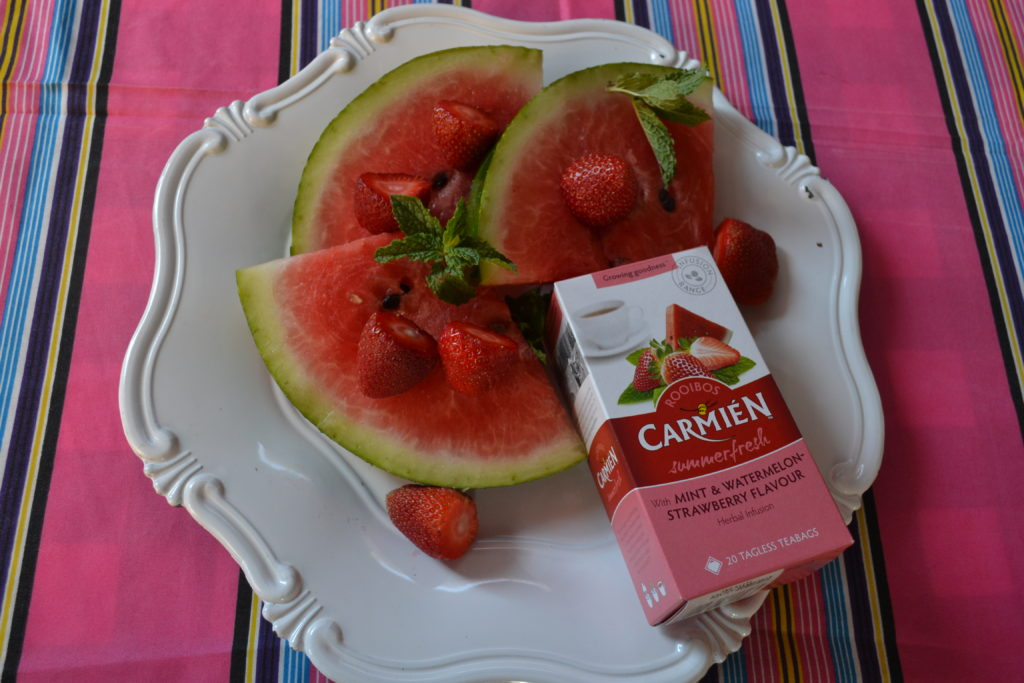 #FestiveScoops Carmien Tea, BoozyFoodie, Watermelon and Strawberry Slushies