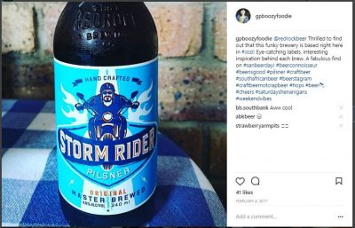 #SANBeerDay, Storm Rider Pilsner, Red Rock Brewing Company, South African National Beer Day 2018, BoozyFoodieLikes