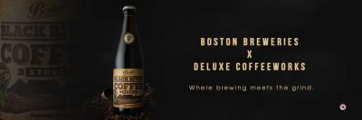"Boston Breweries Black River Coffee Stout ""Where Brewing Meets the Grind"""