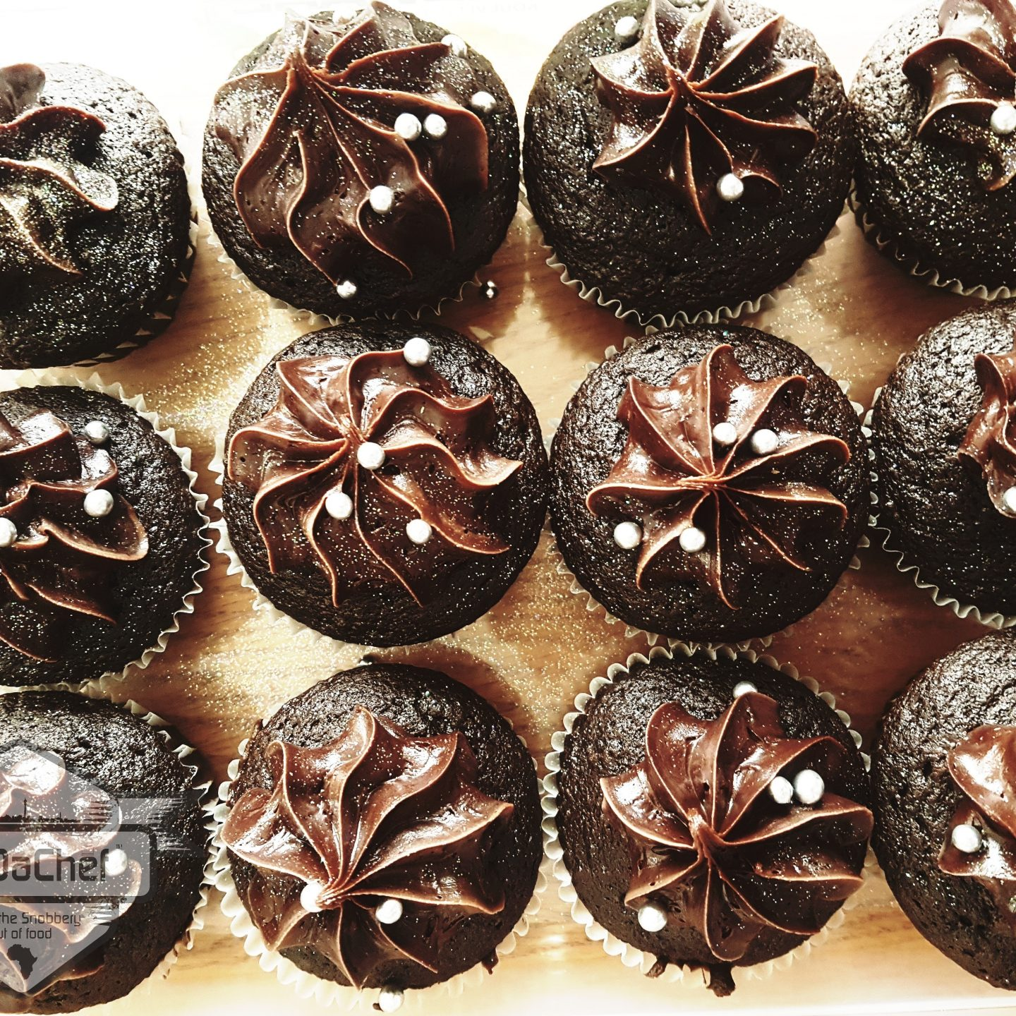 World Baking Day with LesDaChef's Dark Chocolate Cupcakes!