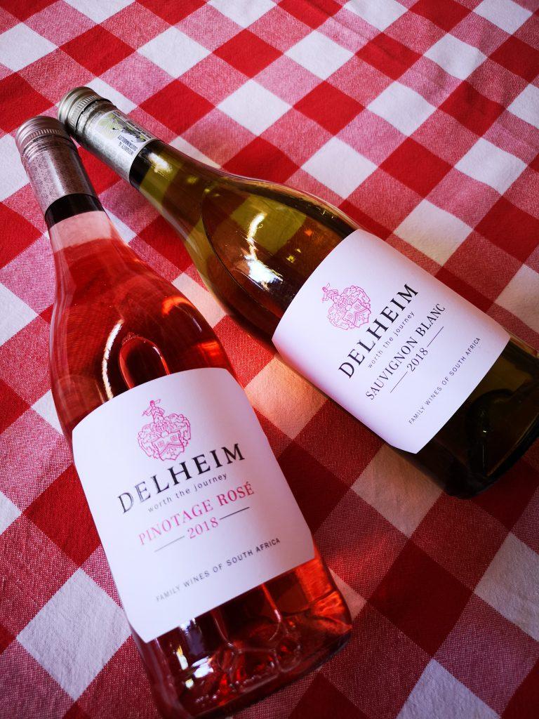 Delheim 2018 vegan wine Sauvignon Blanc Pinotage Rose BoozyFoodie Blog