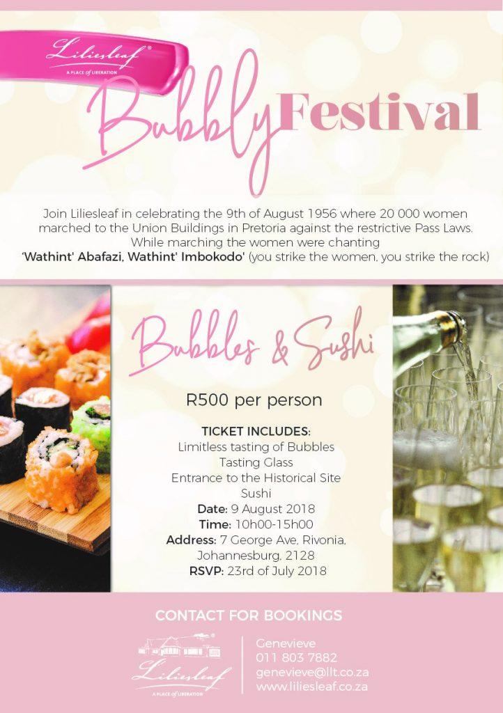 Liliesleaf Bubbly Festival BoozyFoodie Events
