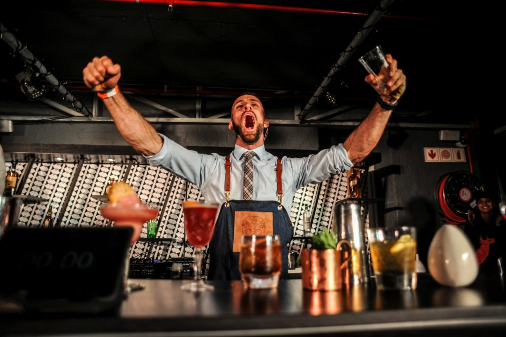 Travis Kuhn Diageo World Class bartending competition