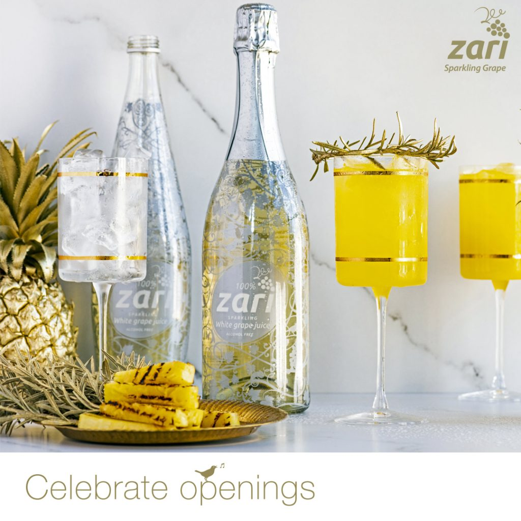 Zari Sparkling Grape non-alcoholic bubbly #CelebrateOpenings