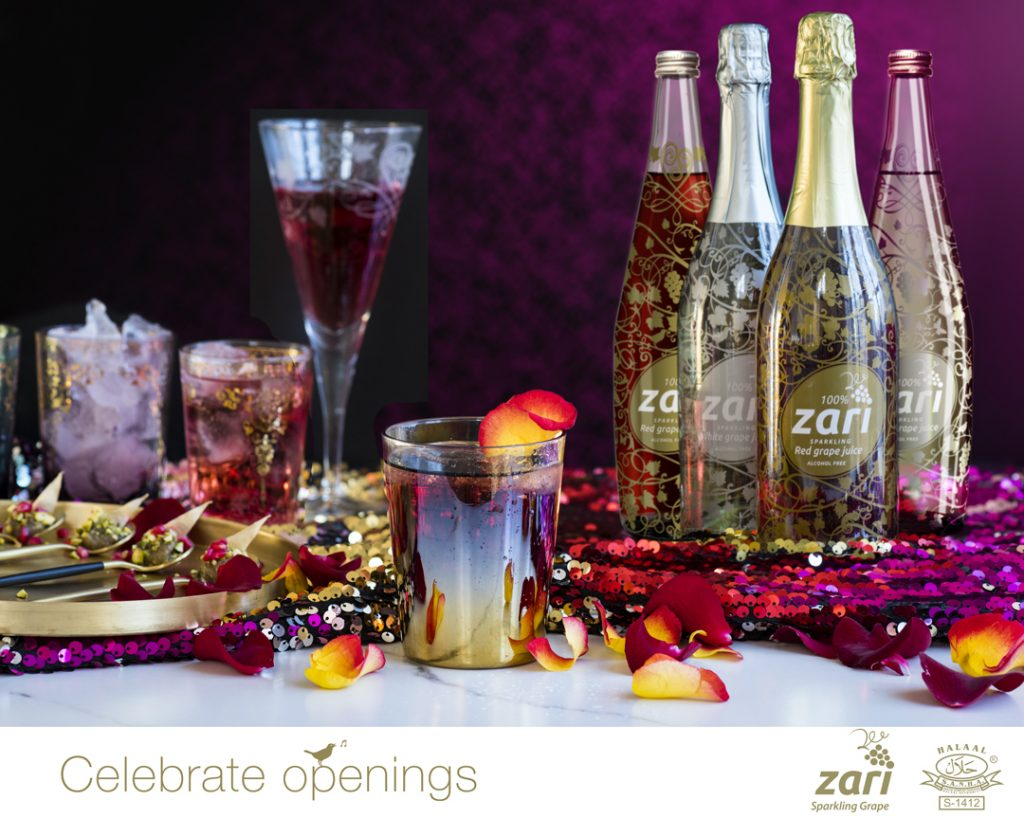 Zari Sparkling Grape non-alcoholic bubble #CelebrateOpenings