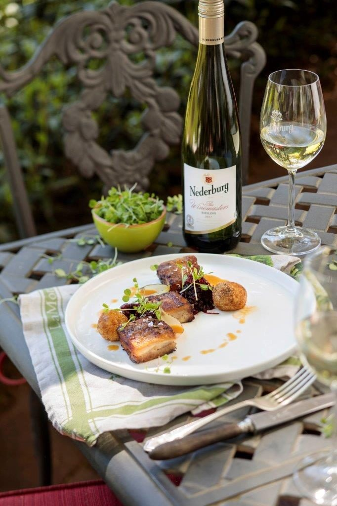 Pork belly with Nederburg WM Riesling LR
