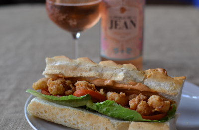 Prawn Po' Boy Sandwich meets Van Loveren's Perlé de Jean