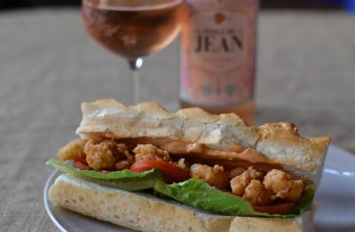 Prawn Po' Boy Sandwich meets Van Loveren's Perlé de Jean