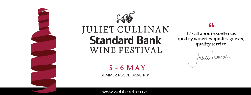 What's on this year at the Juliet Cullinan Standard Bank Wine Festival #PR