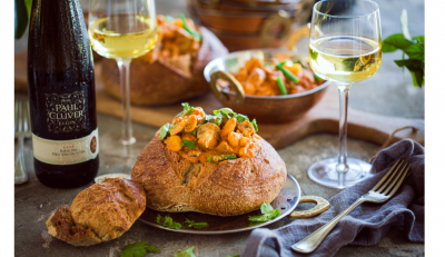 Mushroom Bunny Chow Paired with Paul Cluver Riesling #PR