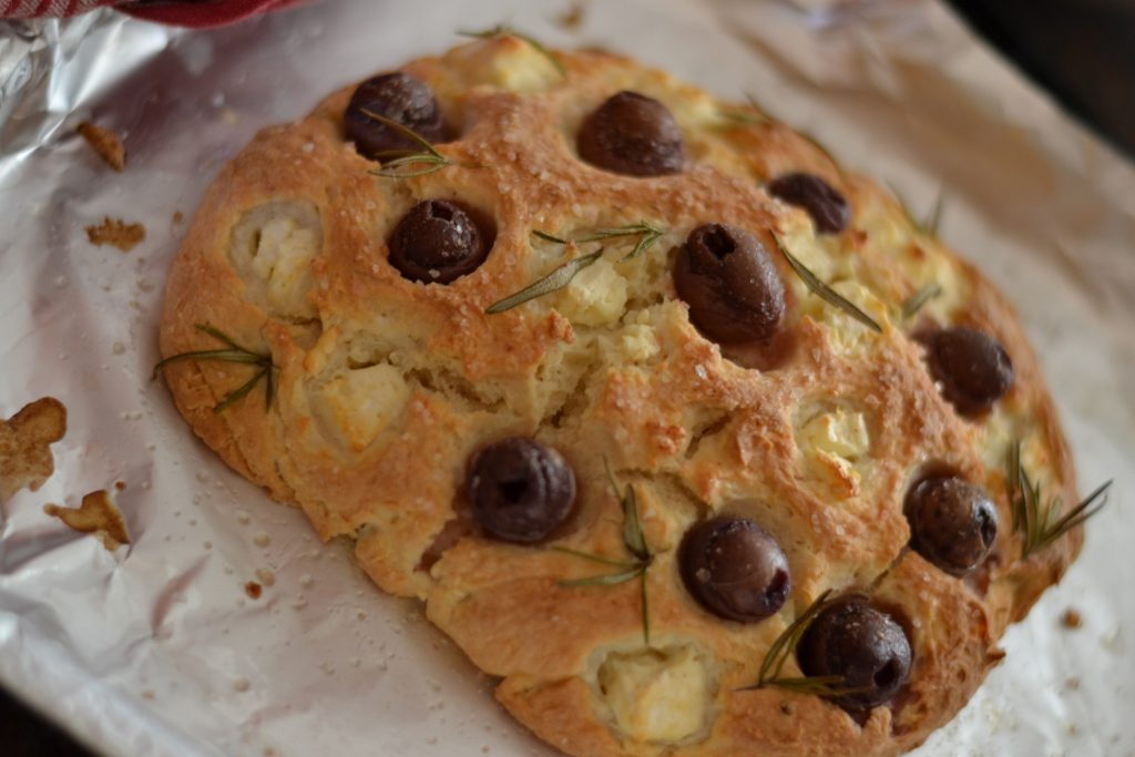 Boozy Foodie 2-ingredient pizza focaccia