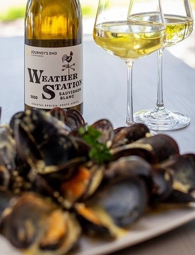 Journey's End Winemaker Mike Dawson's White Wine Mussel Soup to be enjoyed with Journey's End Weather Station Sauvignon Blanc